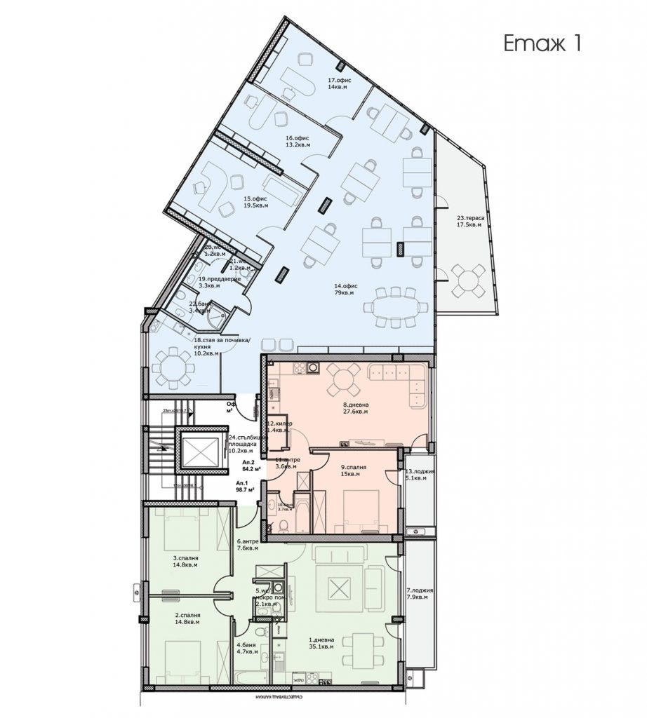 Разпределение етаж 1